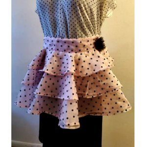 Heavenly Hostess Organza Polka Dot Ruffle Apron